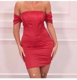 Red Bodycon mini dress size 6