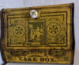 Caja Schepps para pasteles metal litografiado