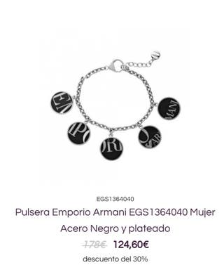 Pulsera Emporio Armani EGS1364040 Mujer Acero Negr