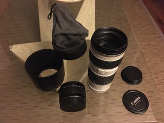 Objectivo Canon 70 200 f4 mas extender