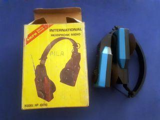 Radio auriculares vintage...
