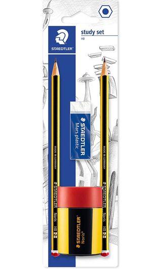 Pack 2 lápices/sacapuntas y goma Staedtler