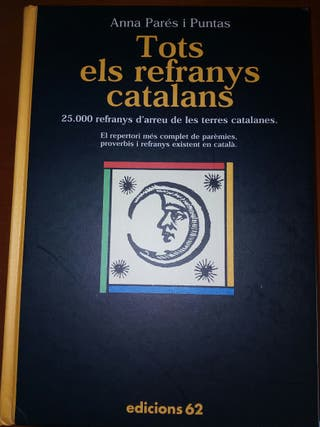 """Libro """"Tots els refranys catalans"""""""