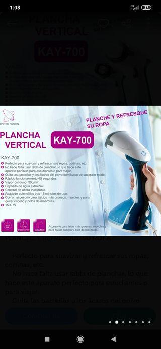plancha vertical kay 700 nueva a estrenar
