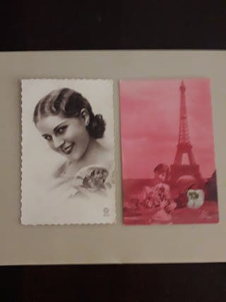 antiguas postales finales siglo XIX