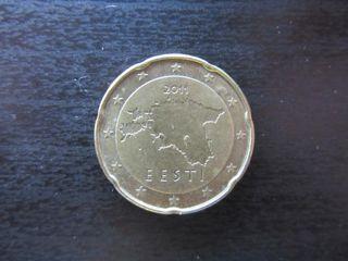 Moneda de 20 céntimos de Estonia de 2011
