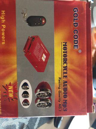 Reproductor mp3 para moto con altavoces