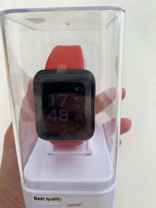 smart watch reloj inteligente rojo