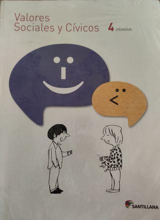 Libro Valores Sociales y Cívicos de 4 de primaria