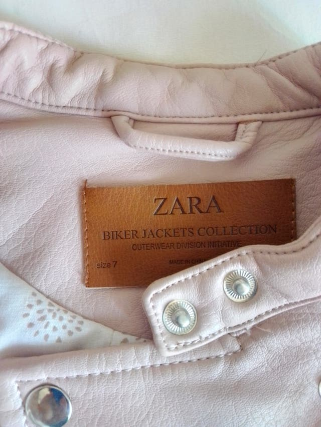 Cazadora de cuero Zara para niña talla 7