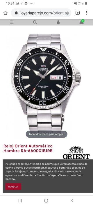 Reloj Orient Automático Hombre RA-AA0001B19B