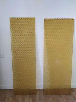 cristales de puertas color ambar