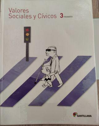 Libro Valores Sociales y Cívicos de 3 de primaria