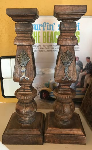 Conjunto Candelabro madera