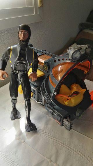 Action Man buzo con submarino