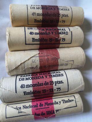 cartuchos de monedas 25 pesetas sin circular