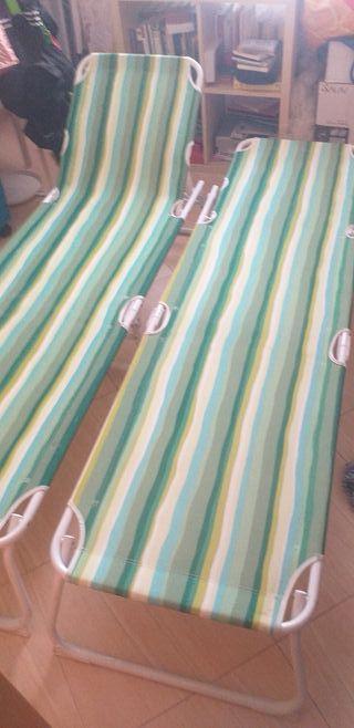 2 tumbonas de playa Ikea usadas