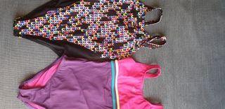 2 bañadores natación niña. Talla 8-10 años