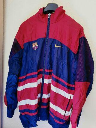 chaqueta vintage del F.C barcelona