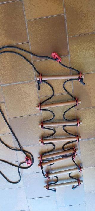 Escalera cuerda 8 peldaños