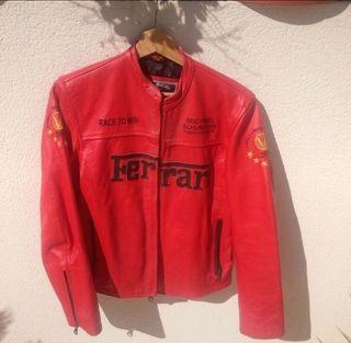 Cazadora biker para moto Ferrari