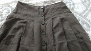 Falda larga de Zara talla L