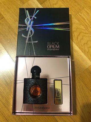 Eau de Parfum Black Opium + Barra de Labios