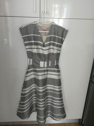 Vestido de fiesta Midi black & white Tintoretto