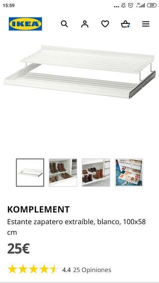 Estante zapatero extraíble, blanco, 100x58 cm de segunda