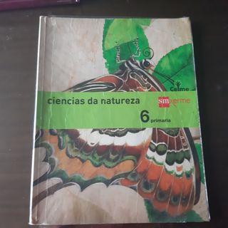 libro de Ciencias da natureza sexto primaria