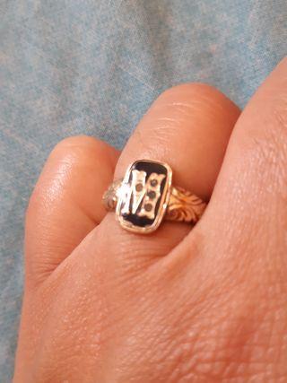 anillo oro antiguo 14k