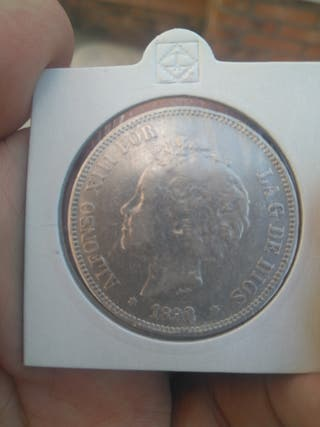 5 pesetas de 1892