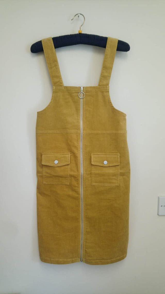New Mustard Colour Pinafore Dress