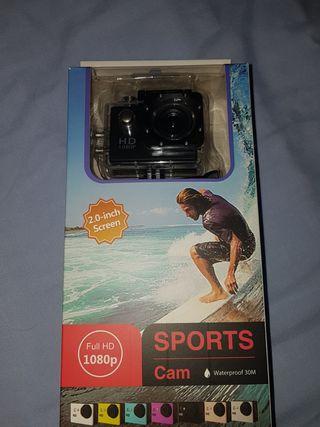 Sports Cam 1080 2.0 screen camara acuatica