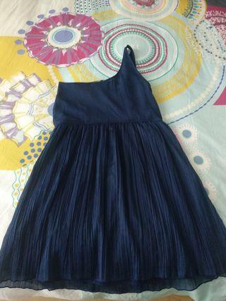 Vestido gasa estilo griego azul marino