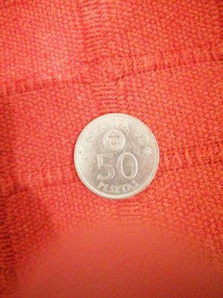 moneda 50 pesetas del mundial 82 escuchó ofertas