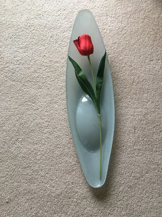 Large oval decorative glass bowl