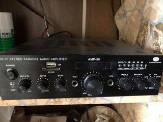Hi-fi stereo kareoke audio amplificador