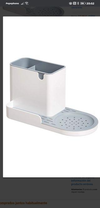 Organizador para el fregadero y recipiente para es