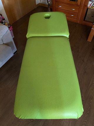 Camilla eléctrica, fisioterapia, masajes.