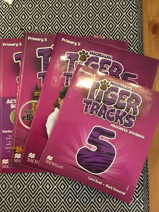 TIGER TRACKS INGLÉS 5º PRIMARIA (set de libros)