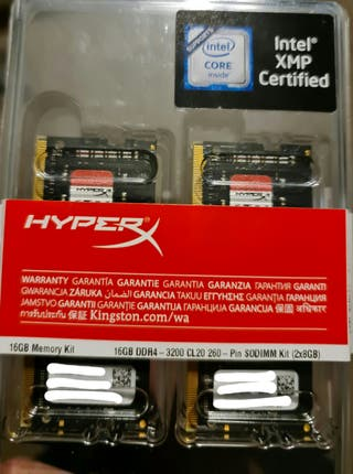16 GB / Dual(2x8GB) HyperX DDR4