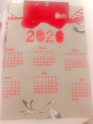 Set de table avec calendrier