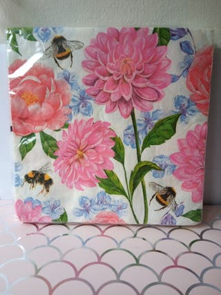 Bee Floral Napkins