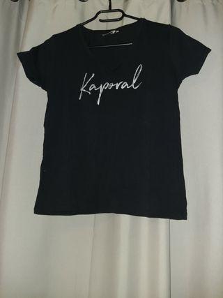 t-shirt kaporal col V femme
