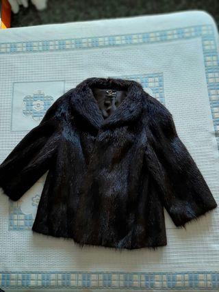 Abrigo piel nutria original