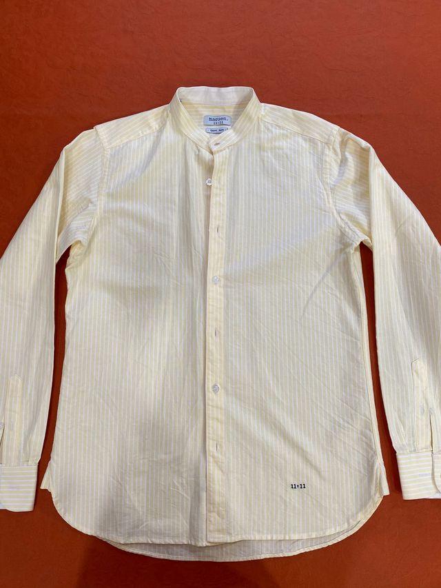 Camisa hombre cuello mao - Talla M