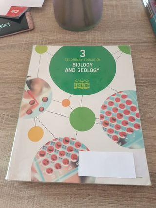 libro biologia y geología de tercero de la ESO