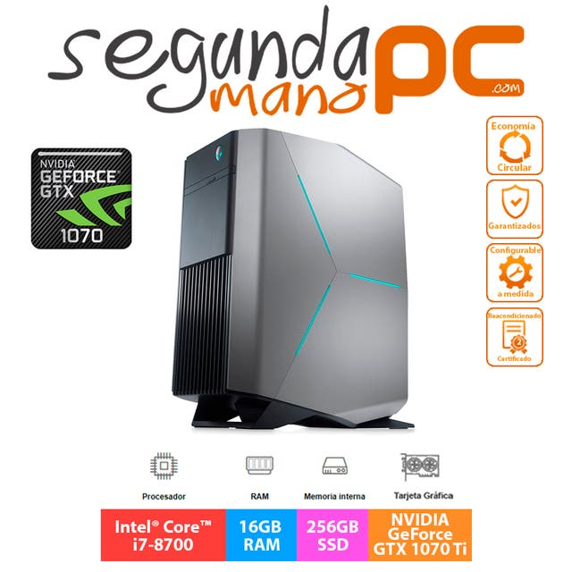 PC GAMER Alienware Aurora R7 - GeForce GTX 1070 Ti