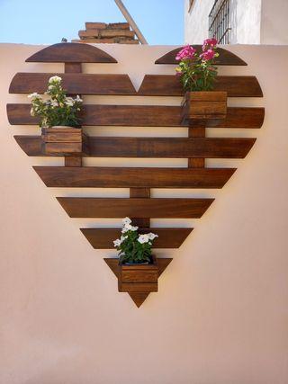 Jardinera en forma de corazon